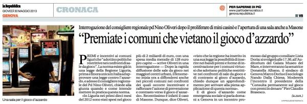 Gioco di Azzardo Repubblica 30 05 2013