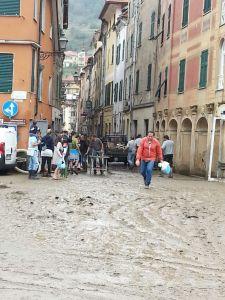 Alluvione Campo Ligure: la piazza